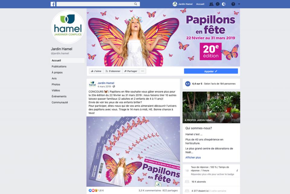 Centre Jardin Hamel – Facebook 1