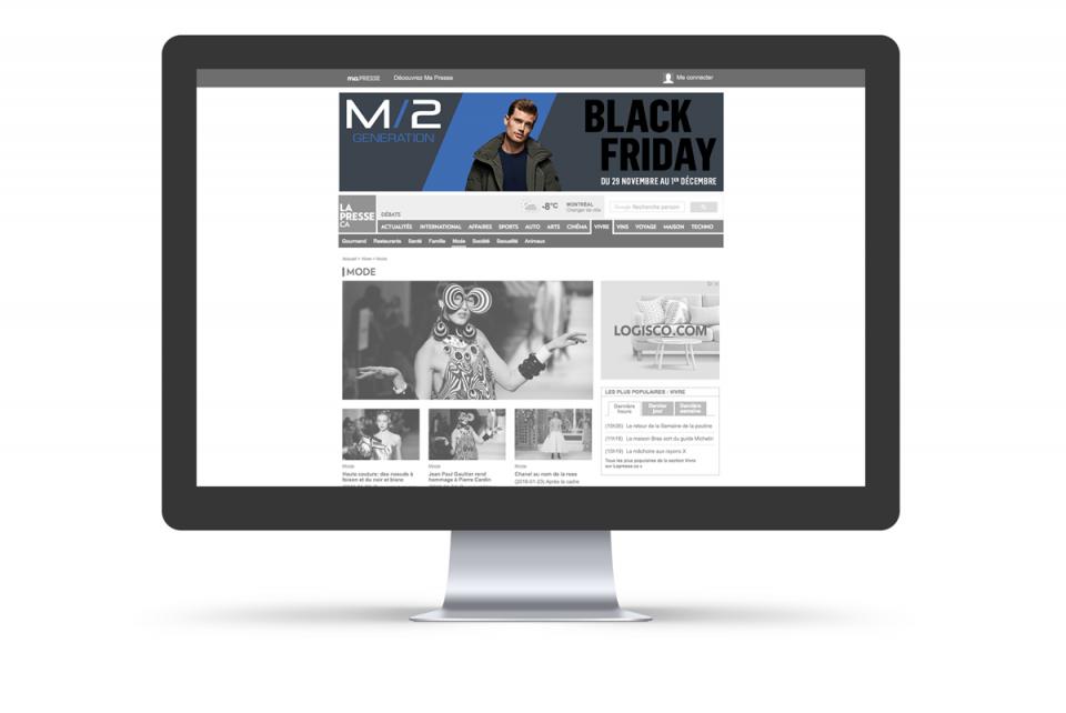 M/2 Boutiques – Bannières Web